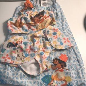 3 piece Moana swimsuit set! Bikini and cover up